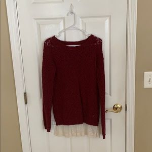 """""""Justice"""" Girl's L (18) Crochet & Lace Sweater"""